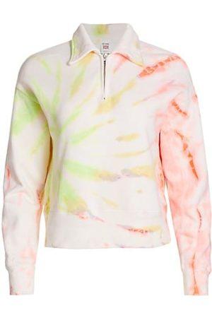 RE/DONE 70s Tie-Dye Half-Zip Sweatshirt