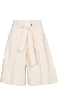 Jil Sander High-rise cotton Bermuda shorts