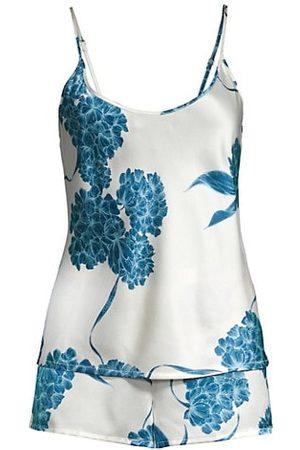La Perla Women Lingerie Sets - 2-Piece Hydrangea Short Silk Pajama Set