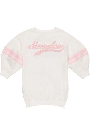 MONNALISA Logo cotton sweatshirt dress