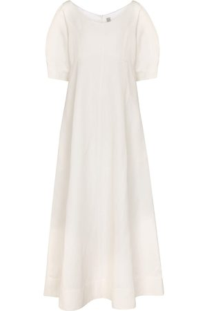Totême Exclusive to Mytheresa – Linen and cotton-blend midi dress