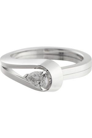 Repossi Women Rings - Serti Inversé 18kt white gold ring with diamond