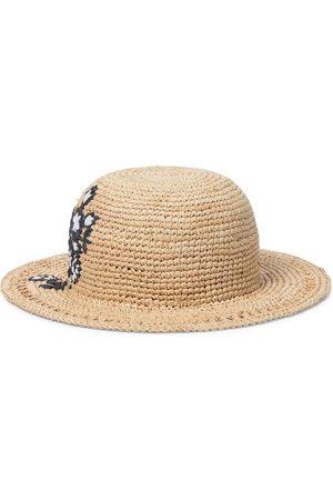 Tartine Et Chocolat Girls Hats - Embroidered raffia hat