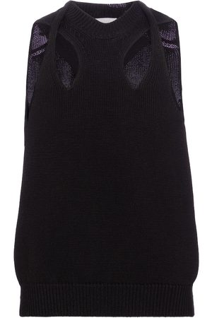 Chloé Cotton and wool knit top