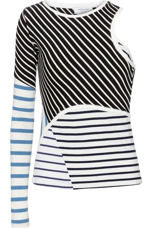Marine Serre Women Tops - Striped cotton top