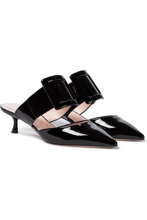 Roger Vivier Viv' In The City patent leather mules