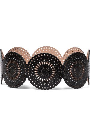 Alaïa Women Belts - Laser-cut leather belt