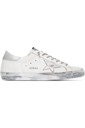 Golden Goose Superstar metallic-effect low-top sneakers
