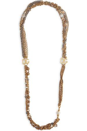 Dolce & Gabbana Logo plaque multi-chain necklace