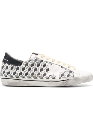 Golden Goose Super-Star cube print sneakers