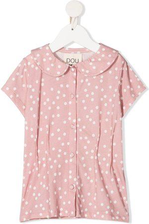 DOUUOD KIDS Polka-dot print cotton blouse