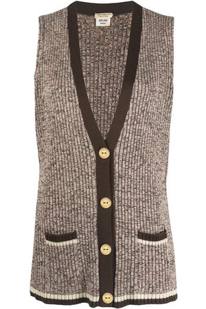 Céline Women Camisoles - Pre-owned knitted wool vest