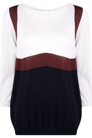 Prada 1990s colour-block wool jumper