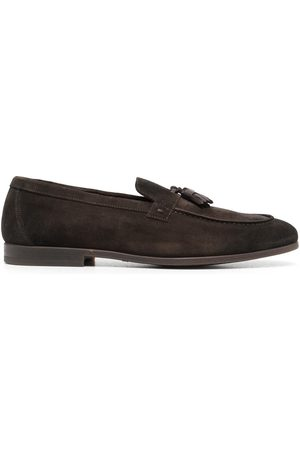 Doucal's Tassel-detail suede loafers
