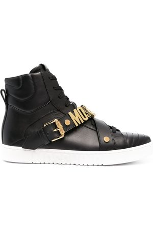 Moschino Logo-plaque high-top sneakers