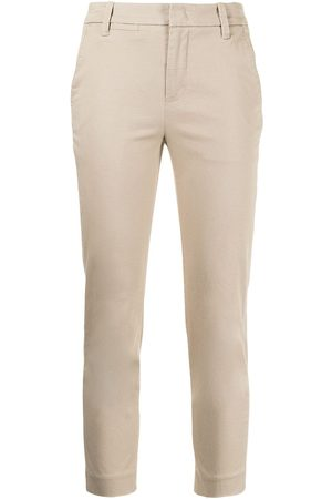 Vince Cropped stretch-cotton trousers
