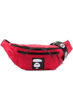 AAPE BY A BATHING APE Logo-patch belt bag