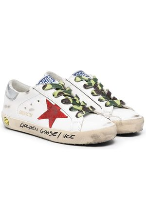 Golden Goose Low-top camouflage lace sneakers
