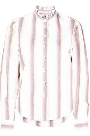 Isabel Marant Ruffle-collar cotton shirt