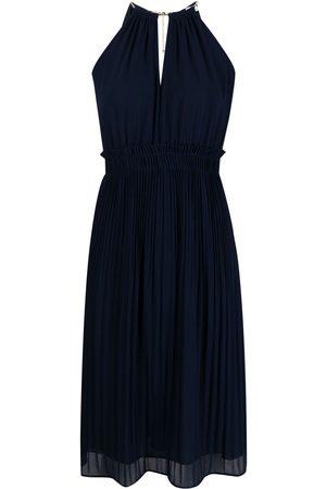 Michael Kors Women Halterneck Dresses - Pleat-detail halter neck dres