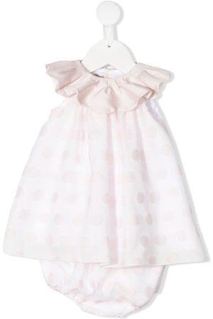 LA STUPENDERIA Ruffled polka-dot dress