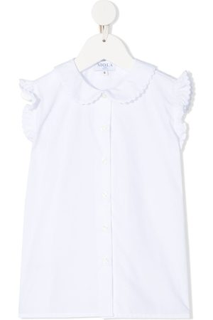 SIOLA Rounded-collar sleeveless blouse