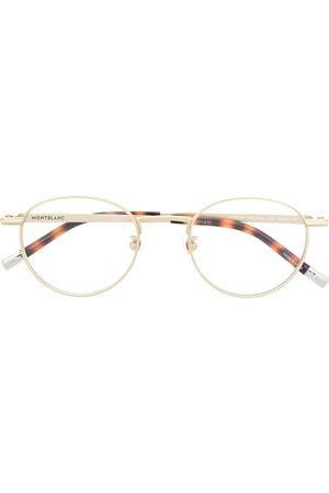 Mont Blanc Round frame metal glasses