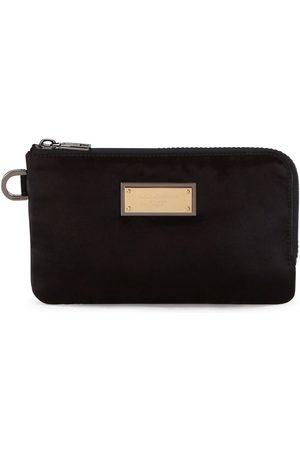Dolce & Gabbana Nylon logo plaque pouch