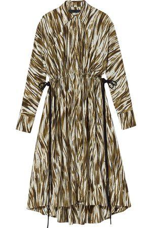 Proenza Schouler PAINTERLY STRIPE MAROCAINE DRESS