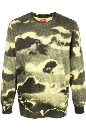 Supreme Cloud print long-sleeved T-shirt