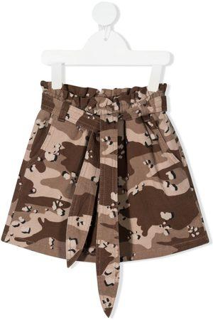 DOUUOD KIDS Camouflage-print mini skirt