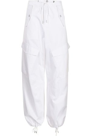 DION LEE High-waisted cotton cargo trousers