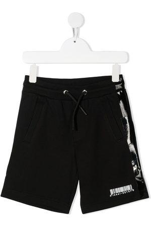 Diesel Barcode-detail drawstring shorts