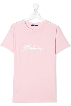 Balmain Logo-print crew neck T-shirt