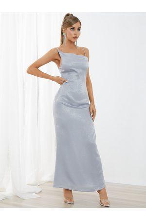 YOINS Spaghetti Semi sheer Sleeveless Maxi Dress