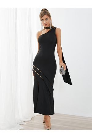 YOINS Women Halterneck Dresses - Halter Hollow Design Sleeveless Maxi Dress