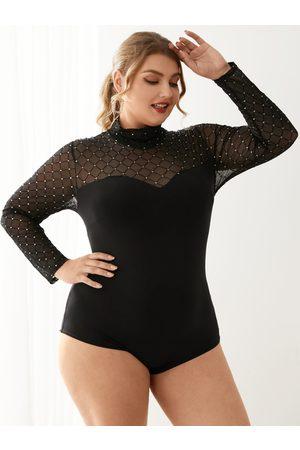 YOINS Women Long Sleeve - Plus Size Turtleneck Long Sleeves Bodysuit