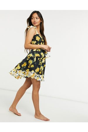 River Island Women Casual Dresses - Floral mini beach dress in