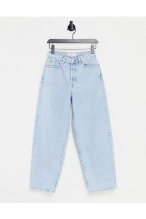 & OTHER STORIES Women Tapered - Major organic cotton high waist tapered leg jeans in stone