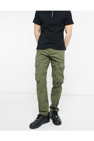 French Connection Men Cargo Pants - Utility cargo trouser in black