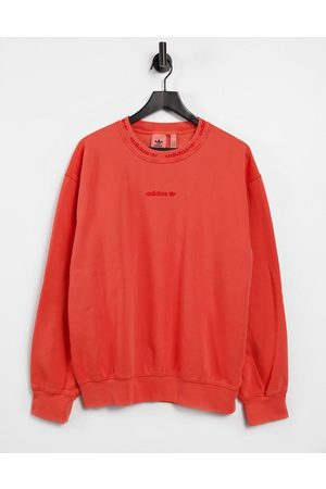 adidas Overdye premium rib sweat with embroidered logo in burnt