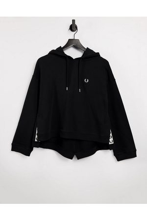 Fred Perry Taped hooded sweatshirt in