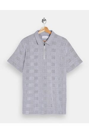 Topman Prince of wales check polo in