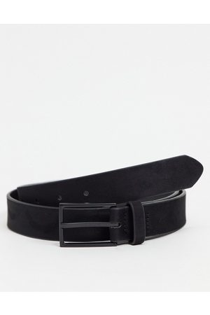 ASOS Slim belt in faux suede with matte buckle detail