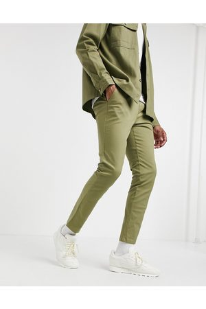 ASOS Skinny chinos with elastic waist in light