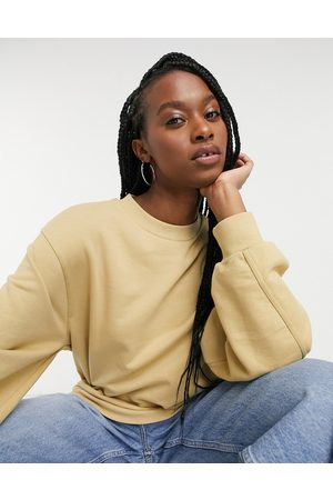 & OTHER STORIES Women Sweatshirts - Organic cotton fine sweatshirt in camel