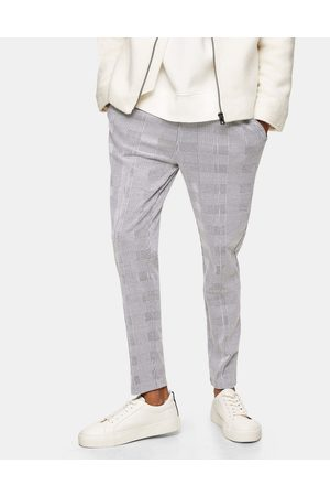 Topman Prince of wales check joggers in