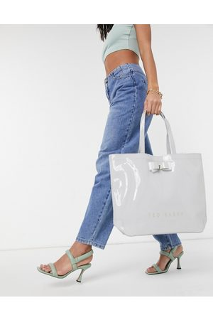 Ted Baker Hanacon patent bow large patent tote bag in