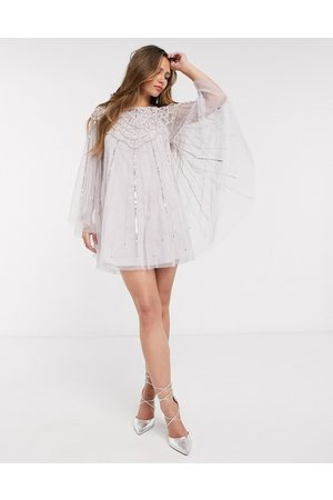 ASOS Cape pearl embellished mini dress