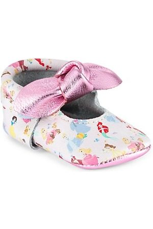 Freshly Picked Girls Loafers - Baby Girl's Princesses Knotted Bow Mini Sole Moccasins